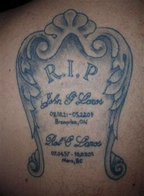 tombstone rip tattoo