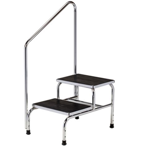 Bariatric Step Stool With Handrail Chrome Two Step Step Stool With Handrail