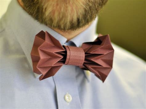 How To Make Paper Bow Ties - origami paper bowtie