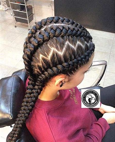 zig zag braids 31 best ghana braids hairstyles page 2 of 3 stayglam