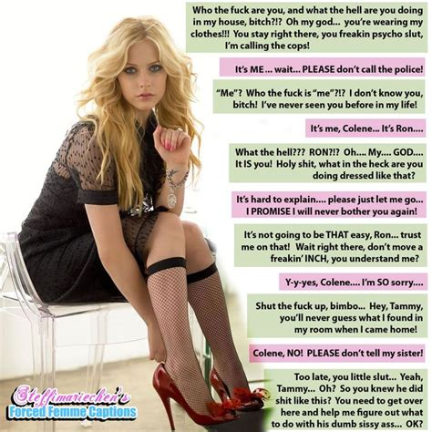 permanent sissy permanent feminization captions forced makeover for