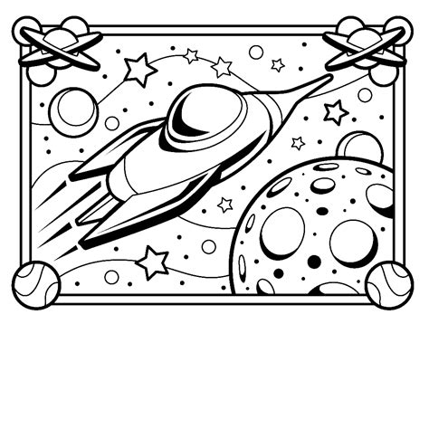 spaceship coloring pages barriee