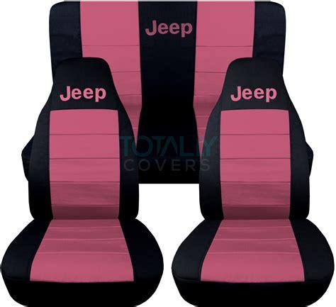 2017 jeep wrangler car seat covers jeep wrangler yj tj jk 1987 2017 2 tone seat covers w logo
