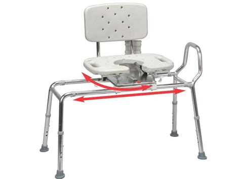 sliding transfer bench for bathtub snap n save sliding shower chair bath transfer bench w cut