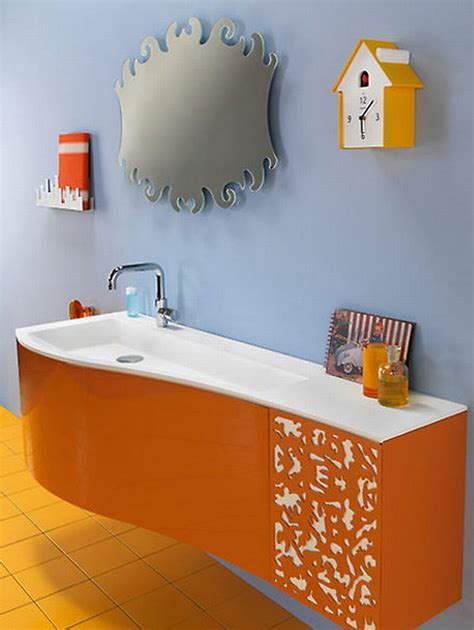 bathroom orange teal orange brown decor decosee com