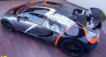 Bugatti Veyron Supersport Price Absurdly Wrapped Bugatti Veyron Sport For Sale In