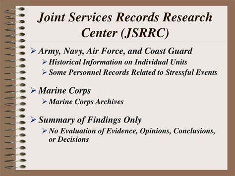 Records Research Ppt Va Approved Stressor Verification Powerpoint Presentation Id 160421