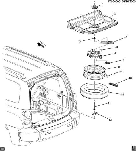 Spare Part Chevrolet 2009 chevrolet hhr spare wheel stowage parts