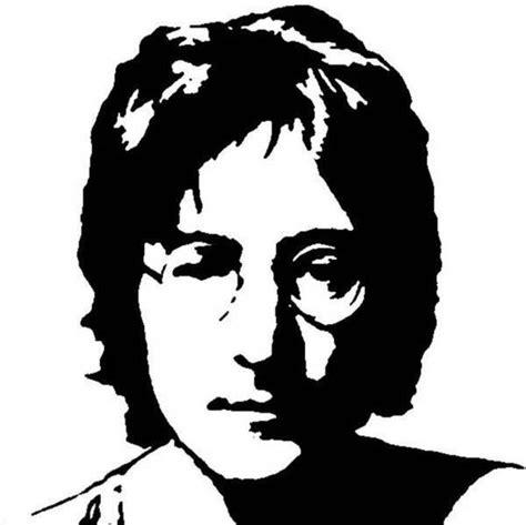 imagenes de john lennon en blanco y negro stencils plantillas michael jackson y john lennon