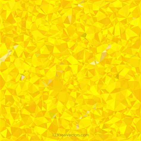 Polygonal Yellow Pattern Background Design   123Freevectors