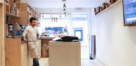 Rosetta Help Desk welcome desk at an italian restaurant concrete lcda