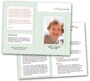 funeral biography template funeral program template