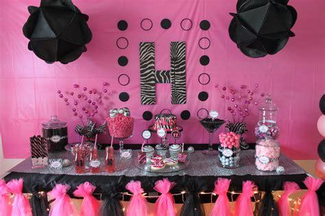 Pink And Black Birthday Decorations s glamfunk bmoore celebrations