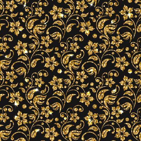 golden svg pattern background golden flowers pattern background vector free download