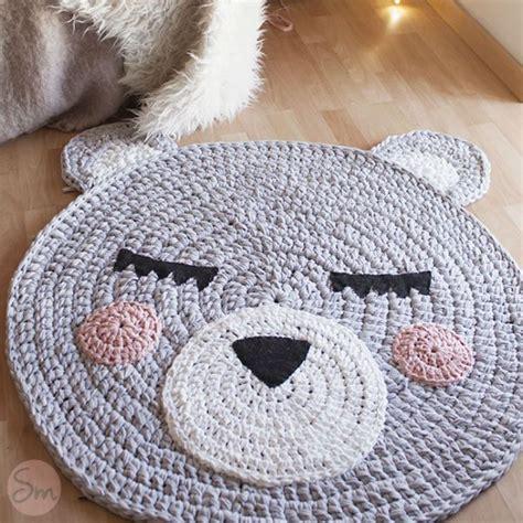tappeto all uncinetto tappeto a uncinetto orsetto in fettucia schema