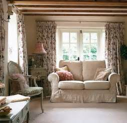 Living Room Cottage Curtains Country Cottages Country Decor And