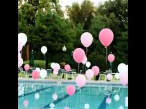 themes for grown up birthday parties easy pool party decorating ideas youtube