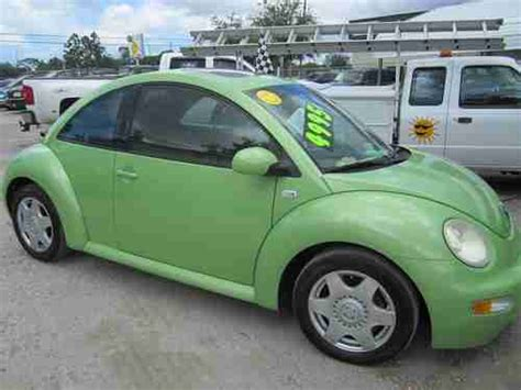 lime green volkswagen beetle buy used 2001 volkswagen beetle gls hatchback 2 door 1 8l