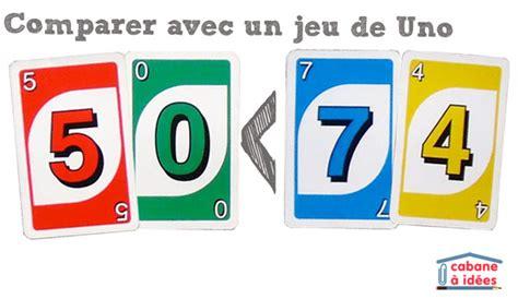 Apprendre à comparer des nombres avec un jeu de Uno ... Comparere
