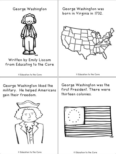 biography of george washington for first graders 12 best images of presidents history worksheets hard