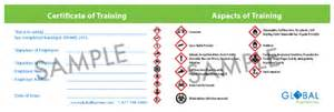 Whmis Certificate Template by Whmis Store Global Hazmat
