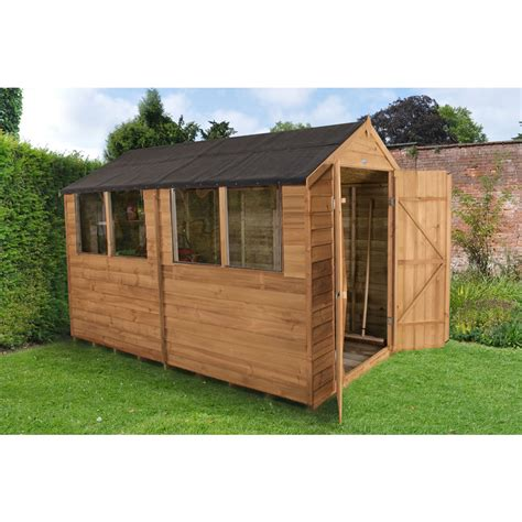 forest garden door overlap garden shed 10 x 6 at