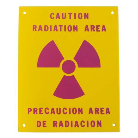 printable area en espanol pvc sign caution radiation area spanish english sign 8