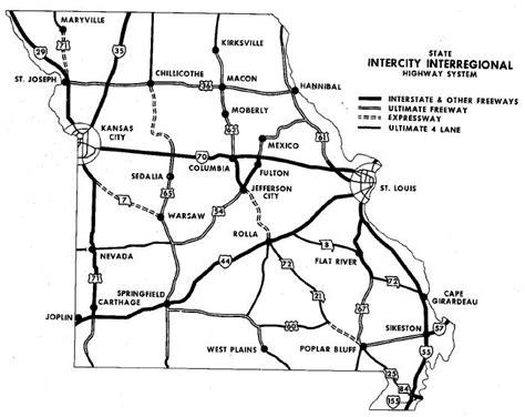 map of chicago kansas city expressway 1973 kansas city to chicago expressway study the line