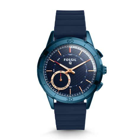 Smartwatch Rubber Blue hybrid smartwatch q modern pursuit navy blue silicone