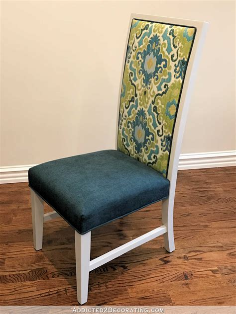 breakfast room dining chair makeover  neutral  colorful