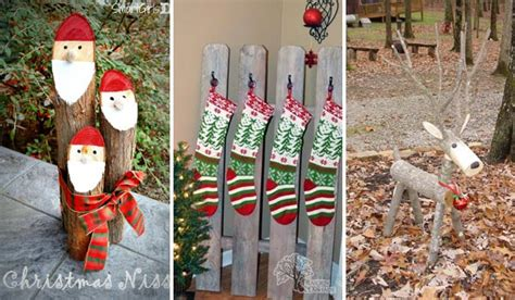 christmas decorations to make at home for free 28 ideas to decorate your home with recycled wood this