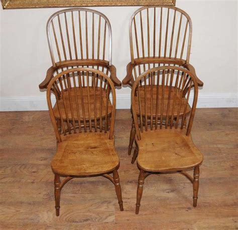 8 Oak Windsor Kitchen Dining Chairs Farmhouse Chair Cargo Dining Chairs