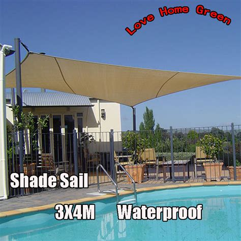 new waterproof garden shade sail canopy square sun shade