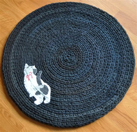 t shirt rag rug pattern no pattern exle of rag rug from old t shirts rather