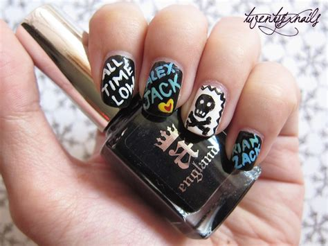 All Nail by My All Time Low Themed Nails My Nail