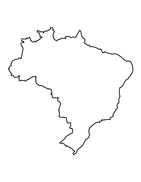 printable country shapes brazil pattern use the printable outline for crafts