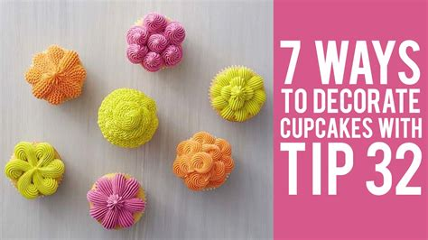 how to decorate cupcakes at home how to decorate cupcakes with tip 32 7 ways youtube