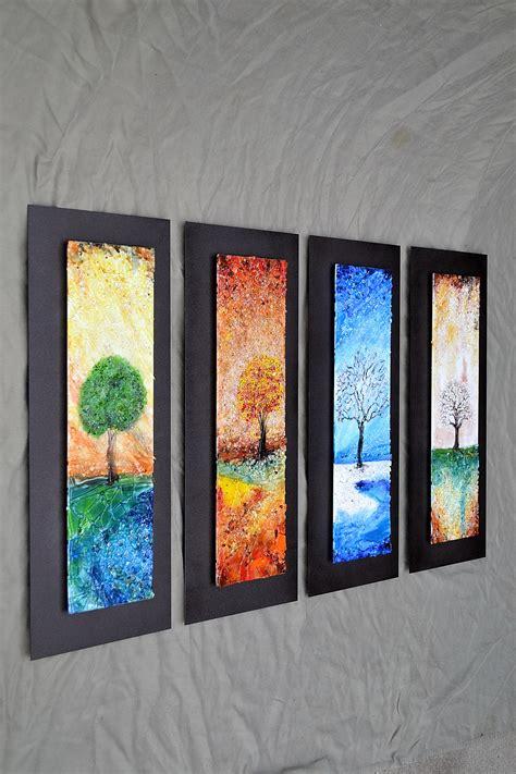 lucas krenzin fused glass art  seasons
