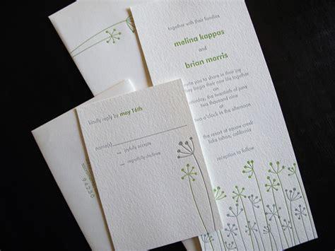 anemone wedding invitations anemone letterpress wedding invitations invitation crush