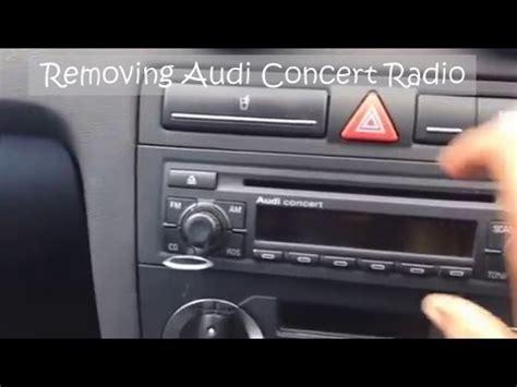 audi concert stereo removing audi concert cd stereo radio