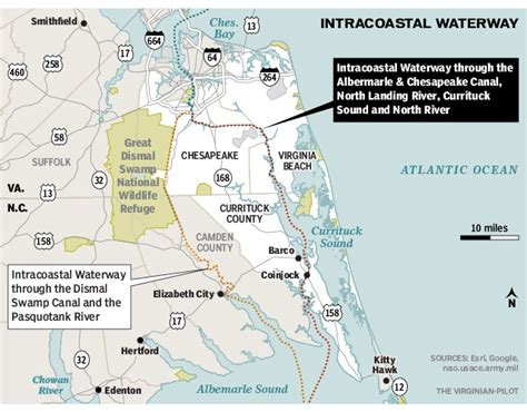 intracoastal waterway map map waterways images