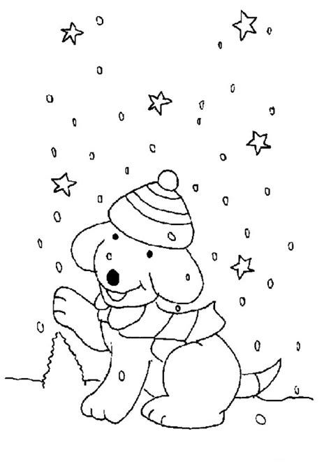 snowy day coloring page az coloring pages