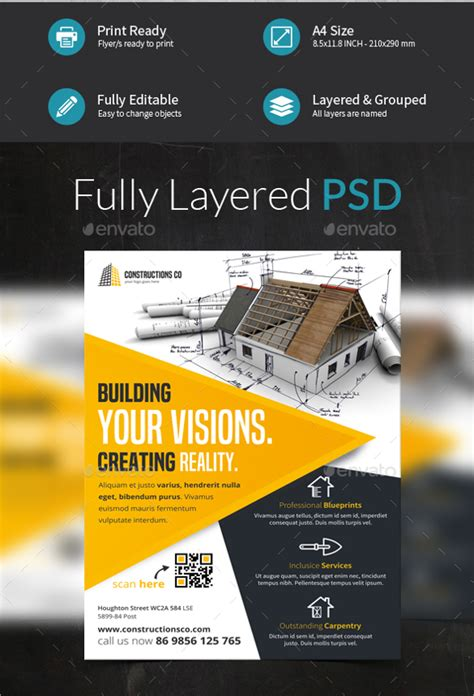 construction company flyer 24 free psd ai vector eps