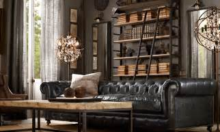 Antique Style Home Decor by Steampunk Living Room Ideas