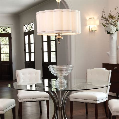 Dining Room Table Lights Light Table In Kitchen Option Depending On How Big Global Views Lighting Fluted Nickel