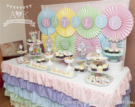 pastel buffet natalie s pastel as a button baby shower