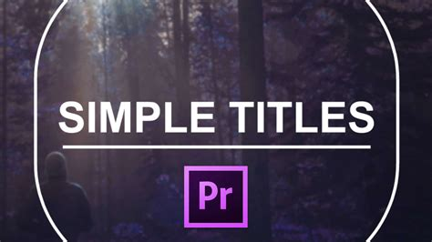 Premiere Pro Title Templates simple titles for premiere pro cinecom net