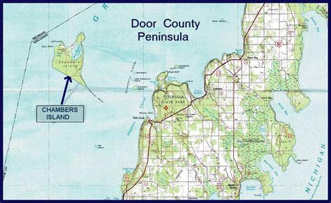 Door County Michigan by Chambers Island Maps