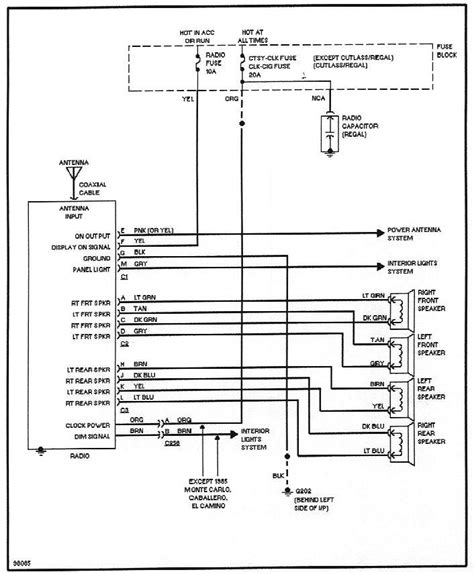 95 buick regal radio wiring diagram wiring diagrams