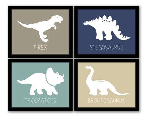 printable dinosaur wall art instant download dinosaur wall art set of 4 nursery art